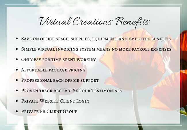 Virtual Creations Benefits